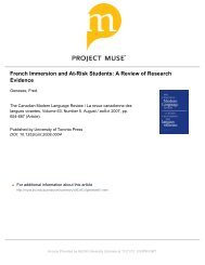 French Immersion and At-Risk Students: A ... - McGill University