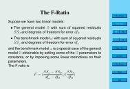 The F-Ratio