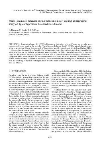 Stress–strain soil behavior during tunneling in soft ground ...