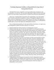 Supervisory Guidelines - McGill University
