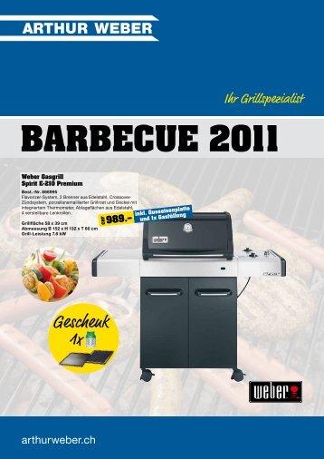 BARBECUE 2011 - Arthur Weber AG