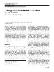 Switching attention between modalities - Institut für Psychologie der ...