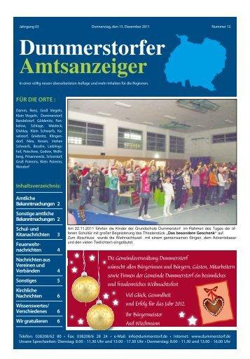 Dezember - Dummerstorf