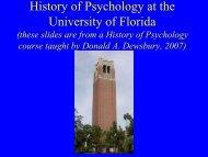 Departmental History - University of Florida Department of Psychology
