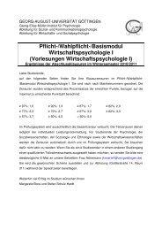 Ergebnisse - Georg-Elias-Müller-Institut für Psychologie - Georg ...
