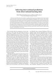 Inferring interventional predictions from observational learning data
