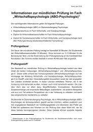 Informationen zur mündlichen Prüfung im Fach ...