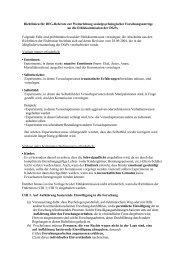Richtlinien zur Weiterleitung sozialpsychologischer ...