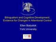 Ellen Bialystok - York University