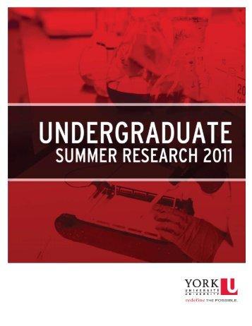 booklet - Department of Psychology - York University
