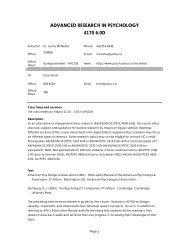 PSYC 4170D Course Syllabus - Department of Psychology