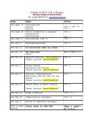 Schedule for PSYC 3250 A (Monday) Dr. Joseph DESOUZA ...