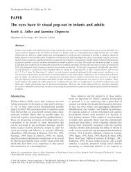 Visual pop-out in infants and adults - Department of Psychology ...