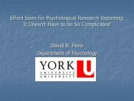 Effect Sizes for Psychological Research Reporting - Department of ...