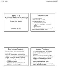 Lecture 2 notes (pdf) - Department of Psychology