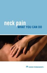 neck pain: what you can do - My Doctor Online - Kaiser Permanente