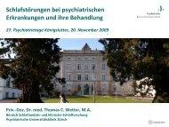 Schlafstörungen bei Depression - Psychiatrie Akademie Königslutter