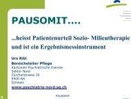 PAUSOMIT.... - Kantonale Psychiatrische Dienste - Sektor Nord
