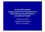 Referat von Prof.Dr.med. Thomas W. Kallert - Kantonale ...