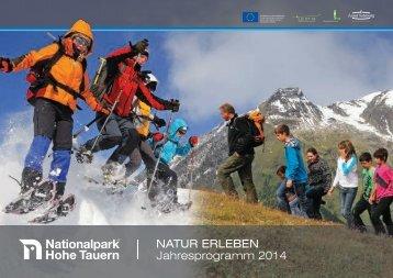 NATUR ERLEBEN Jahresprogramm 2014