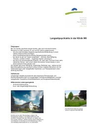Langzeitpsychiatrie in der Klinik Wil - Kantonale Psychiatrische ...