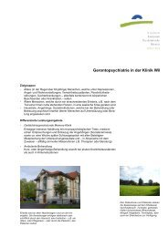 Gerontopsychiatrie - Kantonale Psychiatrische Dienste - Sektor Nord