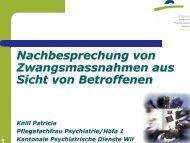 Zwangsmassnahmen - Kantonale Psychiatrische Dienste - Sektor ...