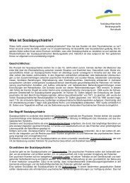 Was ist Sozialpsychiatrie? - Kantonale Psychiatrische Dienste ...
