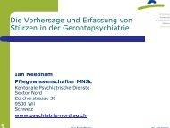 Stürze in der Gerontopsychiatrie - Kantonale Psychiatrische Dienste ...