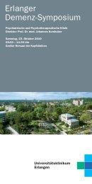 Erlanger Demenz-Symposium - Psychiatrie - Universitätsklinikum ...