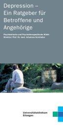 Ratgeber Depression - Psychiatrie - Universitätsklinikum Erlangen