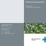 Patientenfürsprecherin - Psychiatrie - Universitätsklinikum Erlangen