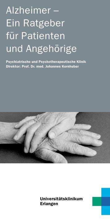 Ratgeber Alzheimer - Psychiatrie - Universitätsklinikum Erlangen