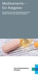 Ratgeber Medikamente - Psychiatrie - Universitätsklinikum Erlangen