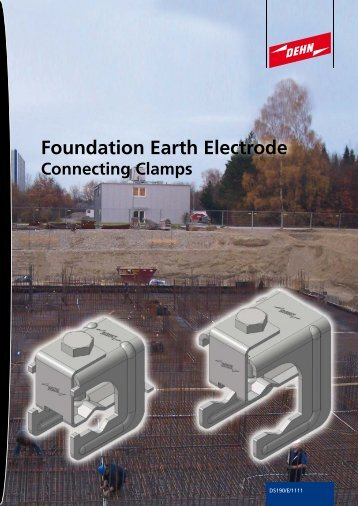 Connecting clamps for foundation earth electrodes and reinforcements