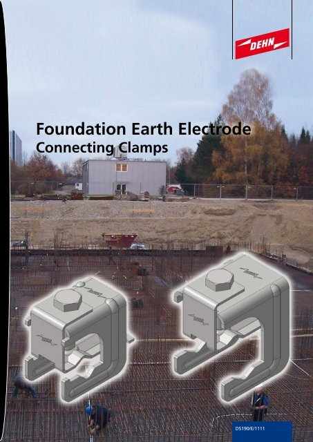 Connecting clamps for foundation earth electrodes and