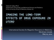 Imaging the Long-Term Effects of Drug Exposure in Utero - Emory ...