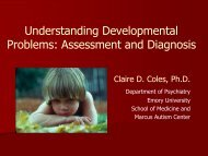 Understanding Developmental Problems: Assessment and Diagnosis
