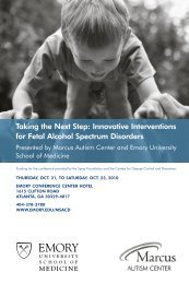 Conference Brochure (PDF) - Emory Psychiatry - Emory University