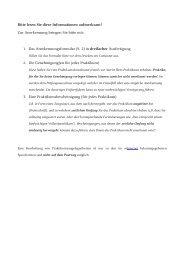 Praktikumsanerkennung - Psychologie - Heinrich-Heine-Universität ...