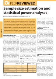 Sample size estimation and statistical power analyses