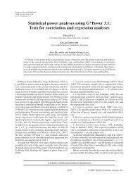 Statistical power analyses using G*Power 3.1 - Psychologie ...