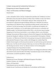 Formale Anzeige und die Landschaft des Pathischen: Prolegomena zu ...