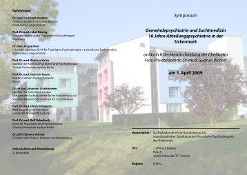 Symposium Gemeindepsychiatrie und Suchtmedizin 16 Jahre ...