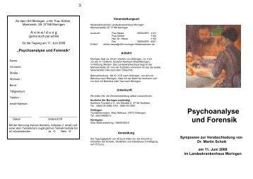 Psychoanalyse und Forensik - Psychologie-aktuell.com