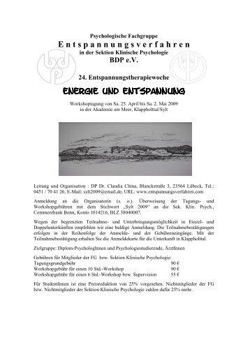 Programm 2008 Net - Psychologie-aktuell.com