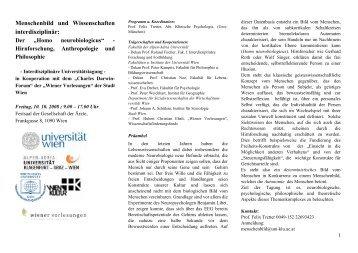 Menschenbild und Wissenschaften interdisziplinär: - Psychologie ...