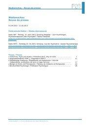 Medienspiegel April - Mai 2013 - Föderation der Schweizer ...