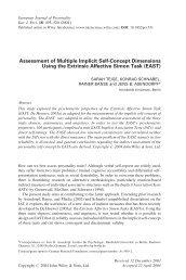 Assessment of multiple implicit self-concept - Institut für Psychologie ...