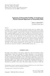 Typeness of personality profiles - Institut für Psychologie - Humboldt ...